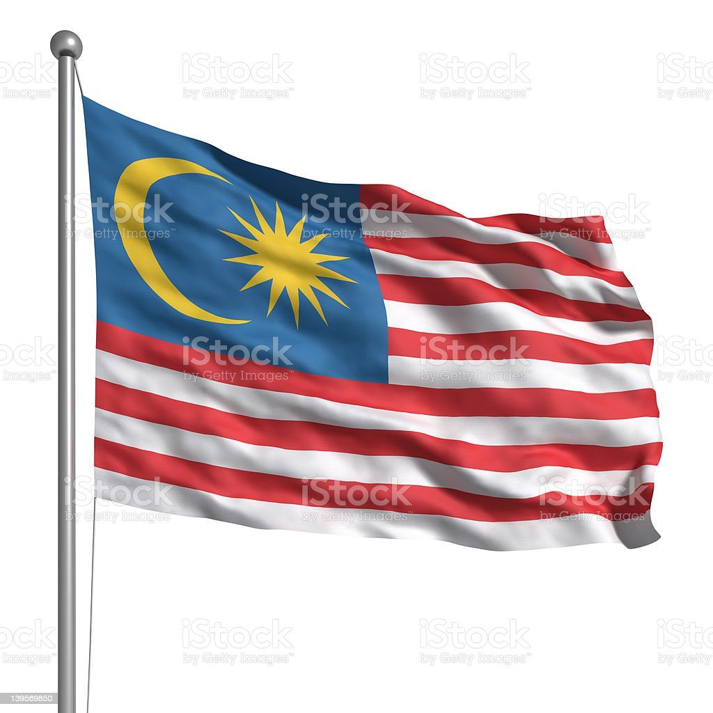 Bandeira da Malásia (isolado - foto de acervo