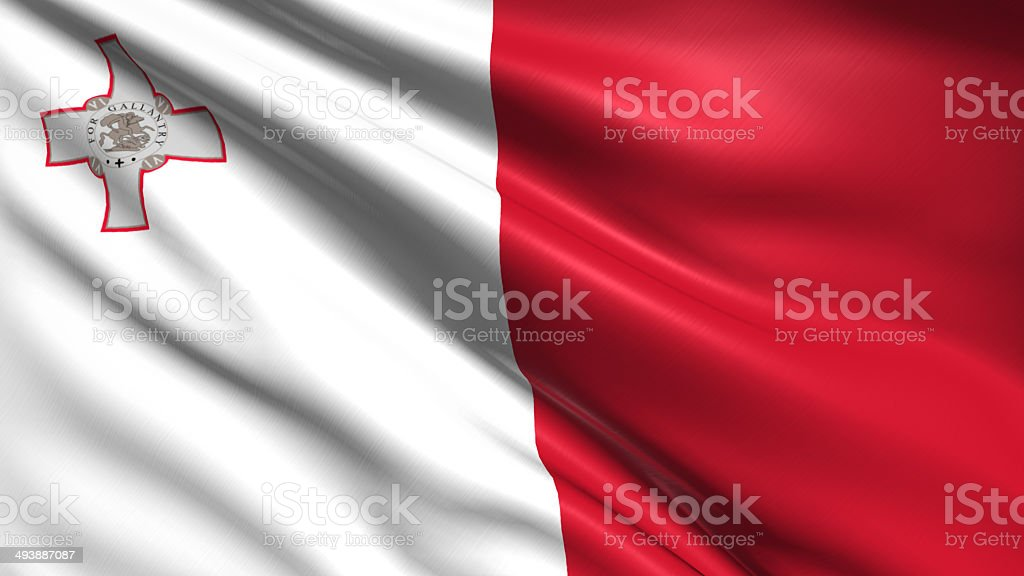 flag of Malta stock photo