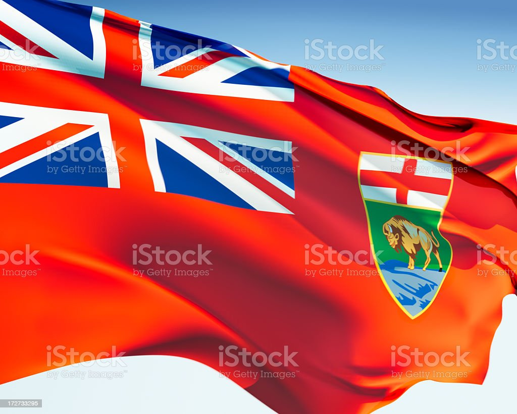Flag of Manitoba royalty-free stock photo