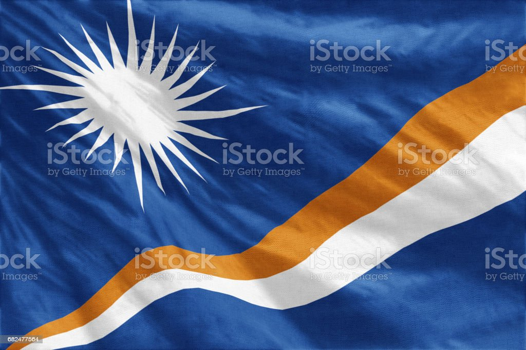 Flag of Marshall Islands royalty-free stock photo