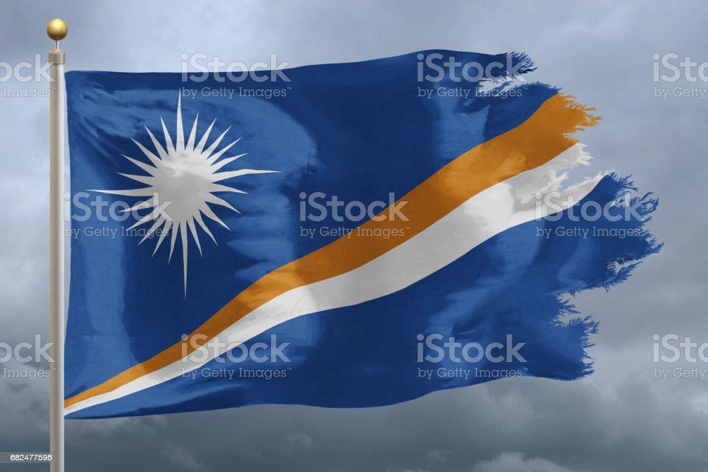 Flag of Marshall Islands Стоковые фото Стоковая фотография