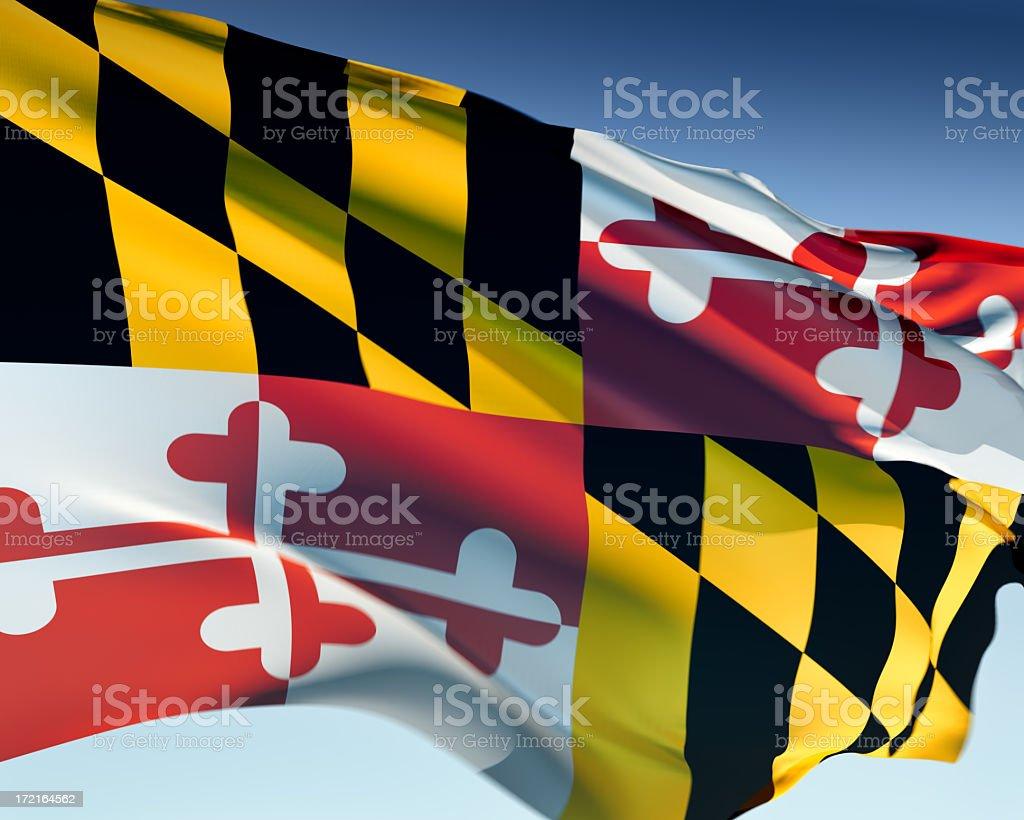 Flag of Maryland stock photo