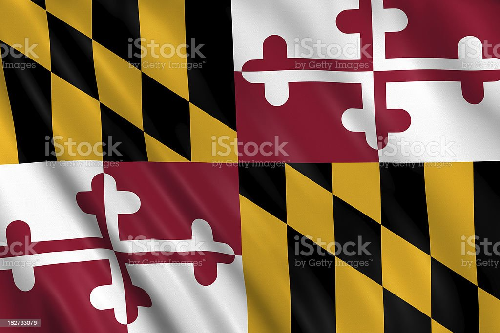 flag of maryland royalty-free stock photo