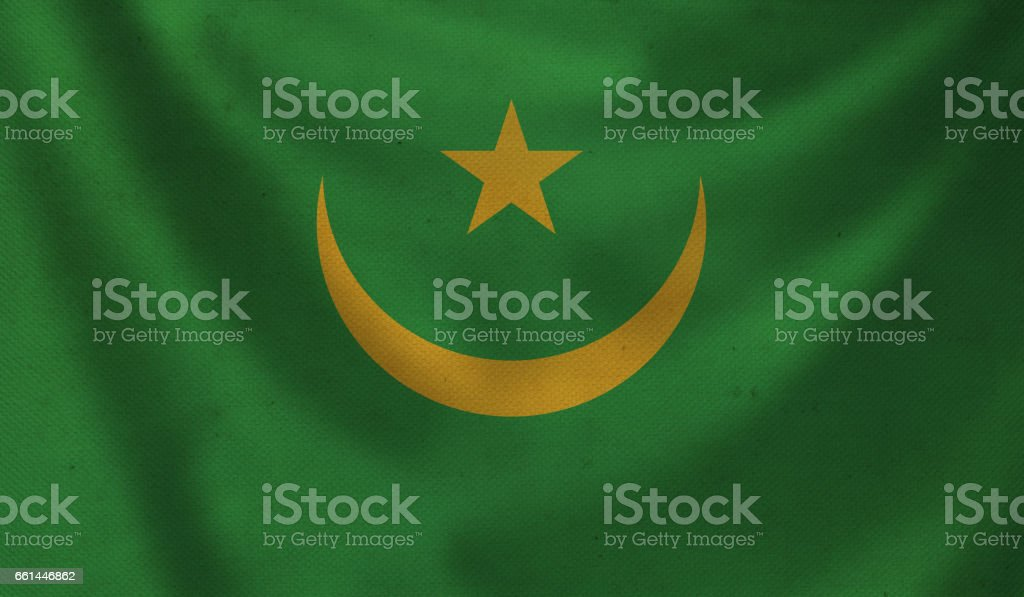 Flag of Mauritania. stock photo