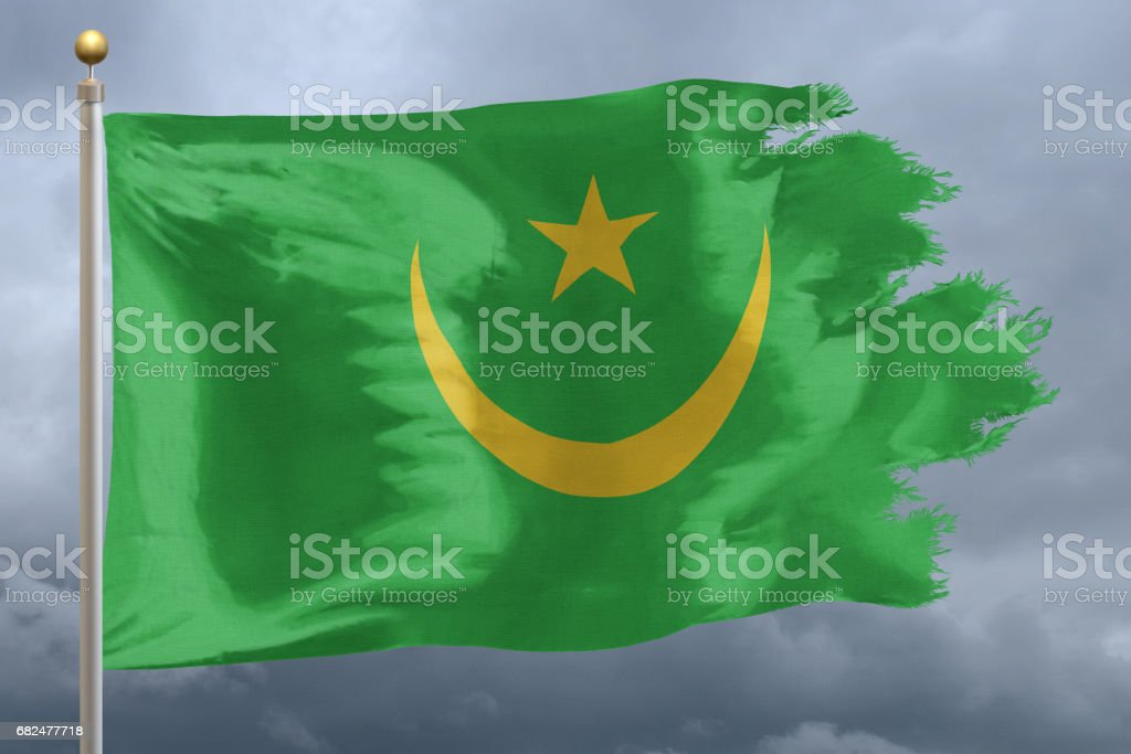 Flag of Mauritania foto de stock royalty-free