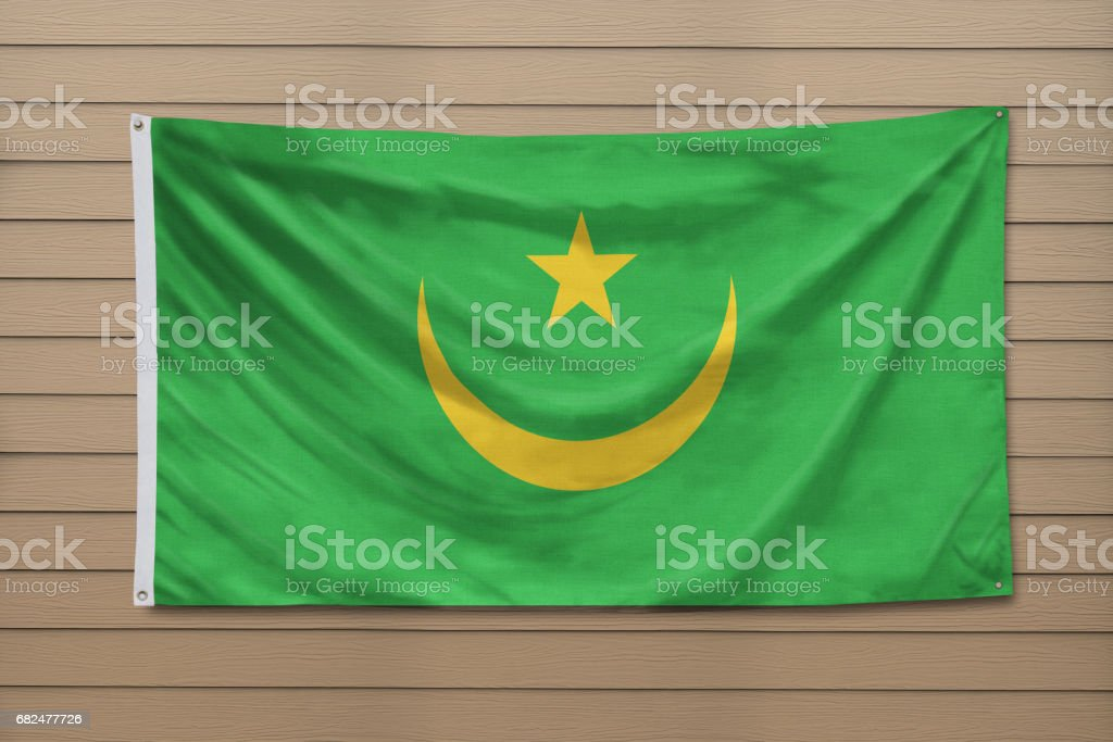 Flag of Mauritania royalty-free stock photo