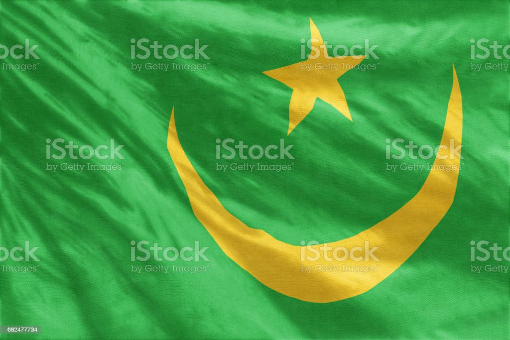 Flag of Mauritania foto stock royalty-free