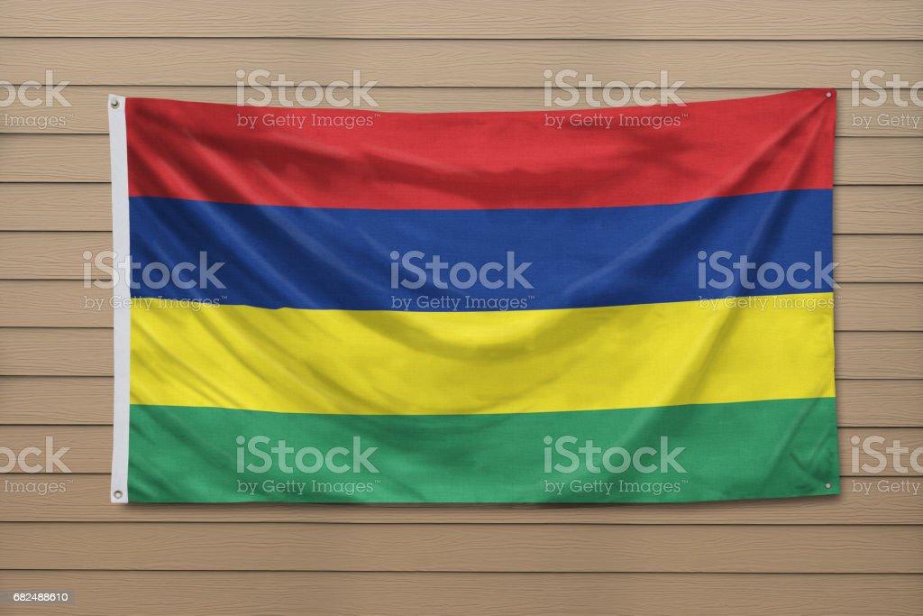 Flag of Mauritius royalty-free stock photo