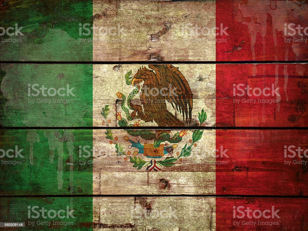 Flag of Mexica stock photo