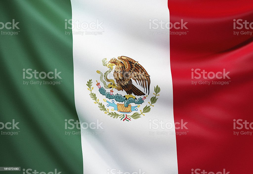 Flag of Mexico stock photo