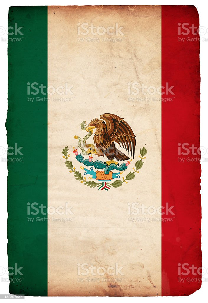 Flag of Mexico (XXXL) stock photo