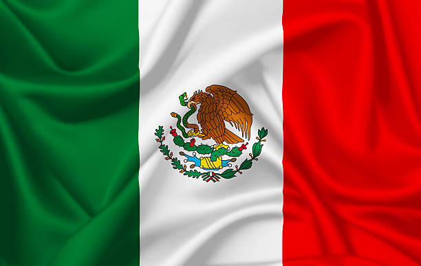Flag of Mexico Flag of Mexico waving with silky look 2014 stock pictures, royalty-free photos & images