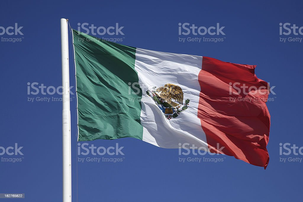 Flag of Mexico XXXL stock photo