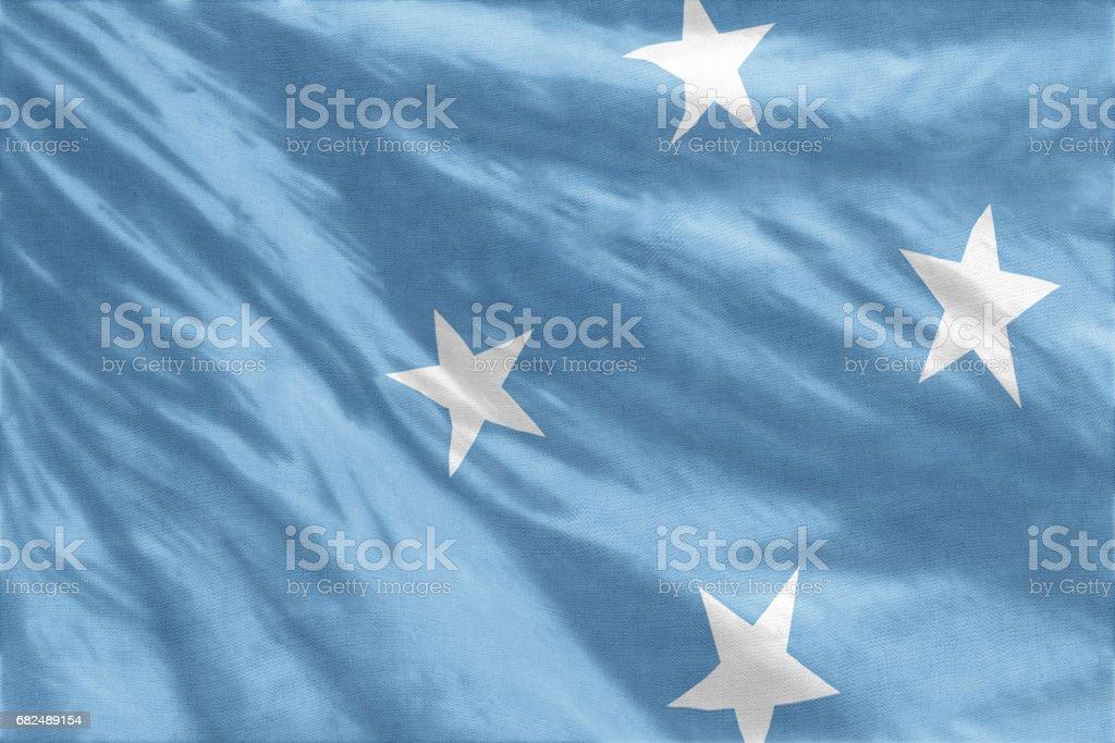 Flag of Micronesia royalty-free stock photo