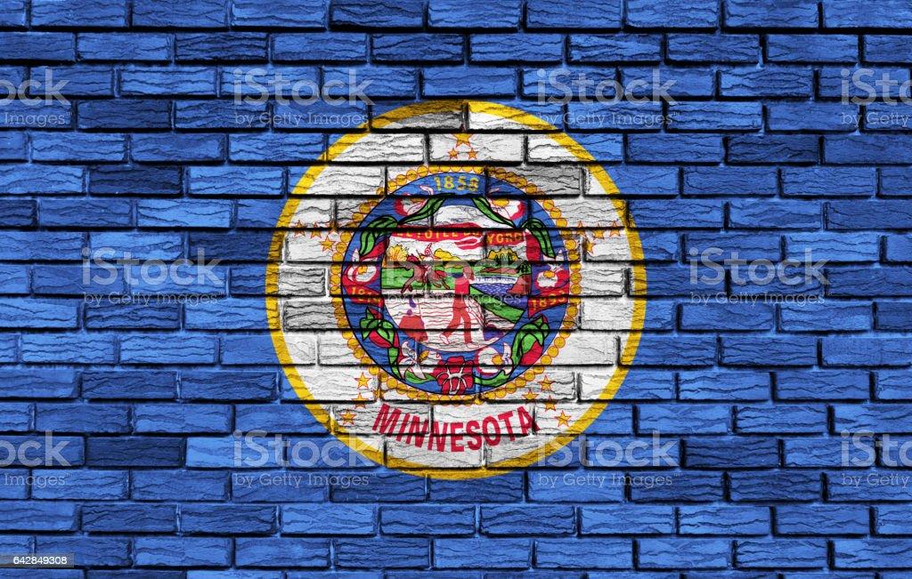 US flag of Minnesota stock photo