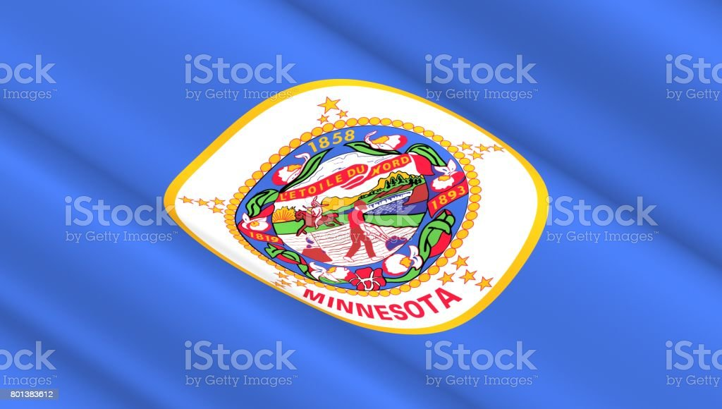 Flag Of Minnesota State Stock Photo More Pictures Of Abstract Istock