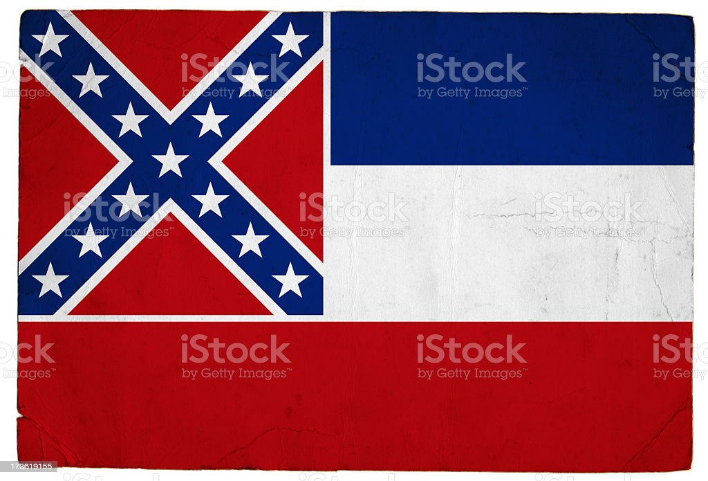 Flag of Mississippi royalty-free stock photo