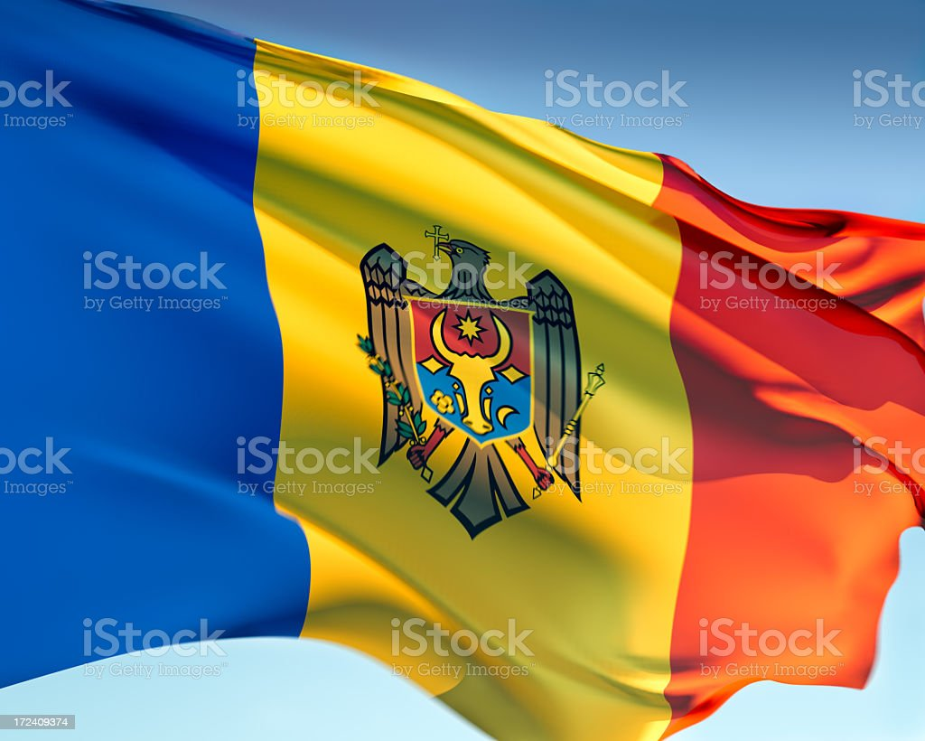 Flag of Moldova stock photo