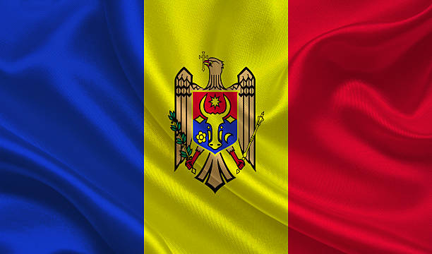 flag of moldova - moldova stock pictures, royalty-free photos & images