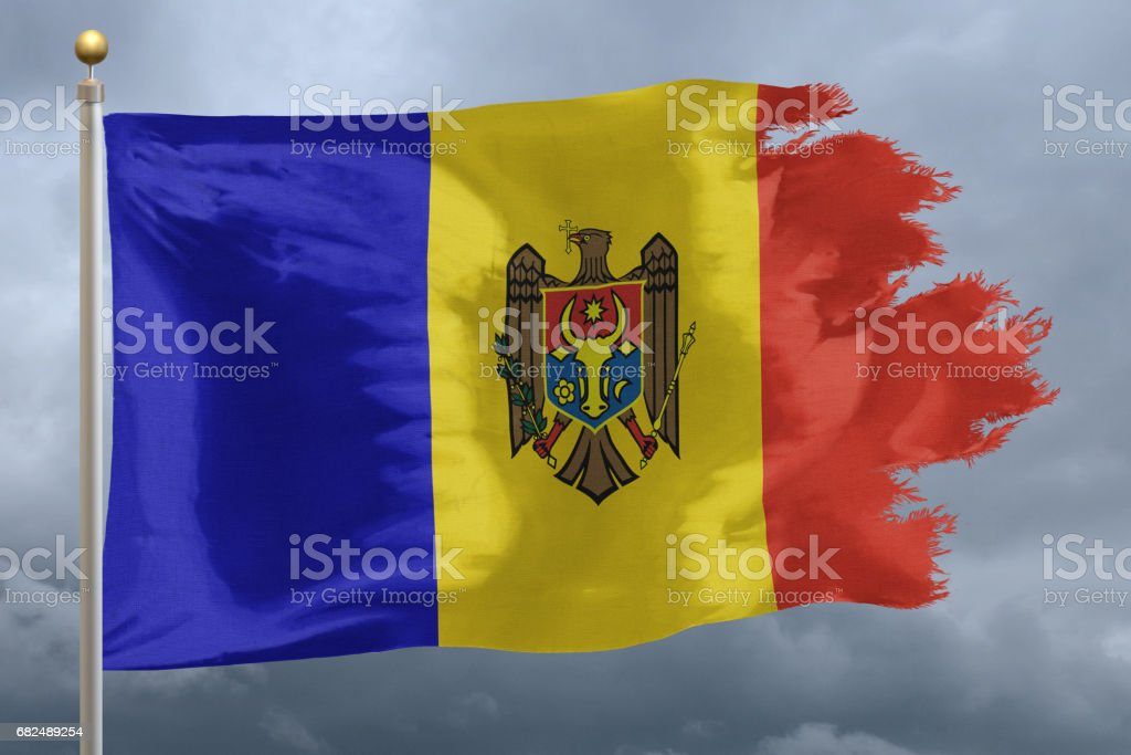 Flag of Moldova royalty-free stock photo