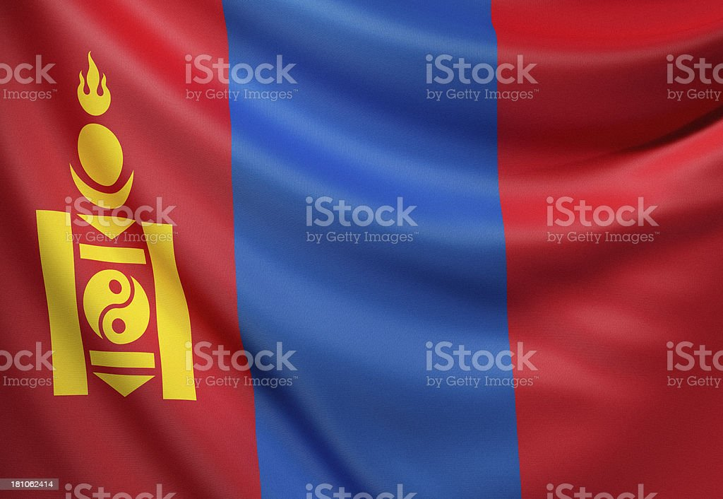 Flag of Mongolia royalty-free stock photo