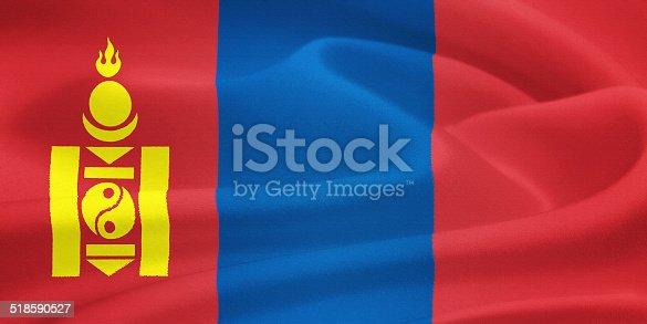 istock Flag of Mongolia 518590527