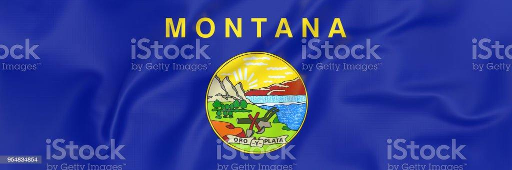 Bandeira de Montana - foto de acervo