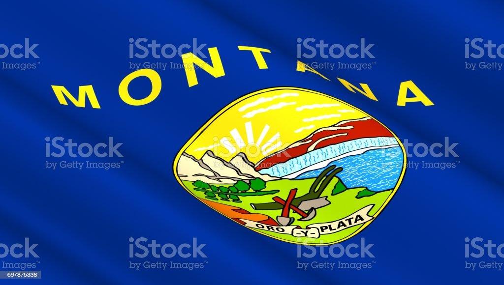 Bandeira do estado de Montana - foto de acervo