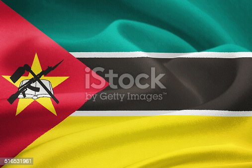 istock flag of Mozambique 516531961