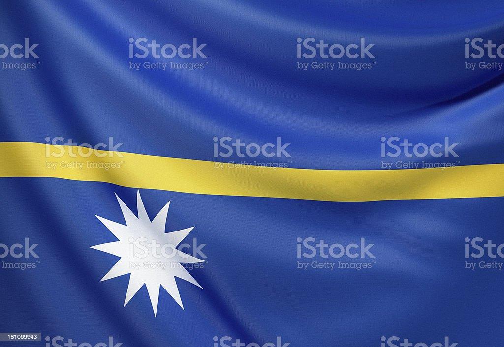 Flag of Nauru royalty-free stock photo
