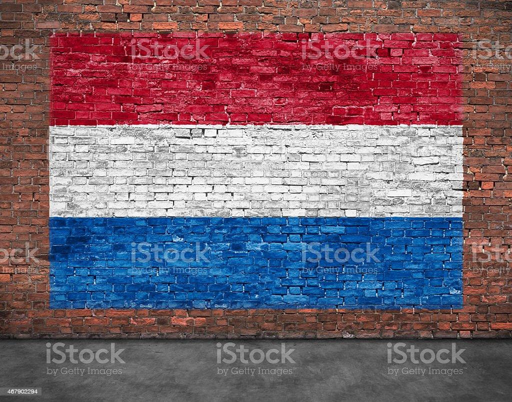 Bandera de Países Bajos y plano - foto de stock