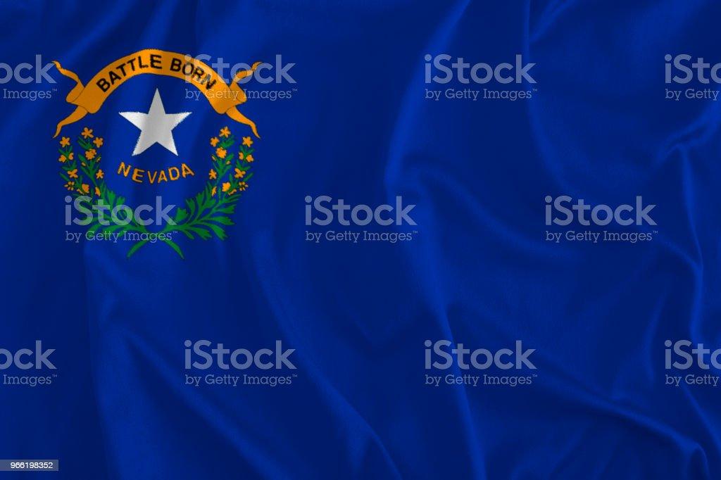 Bandeira de Nevada fundo, estado de prata - foto de acervo