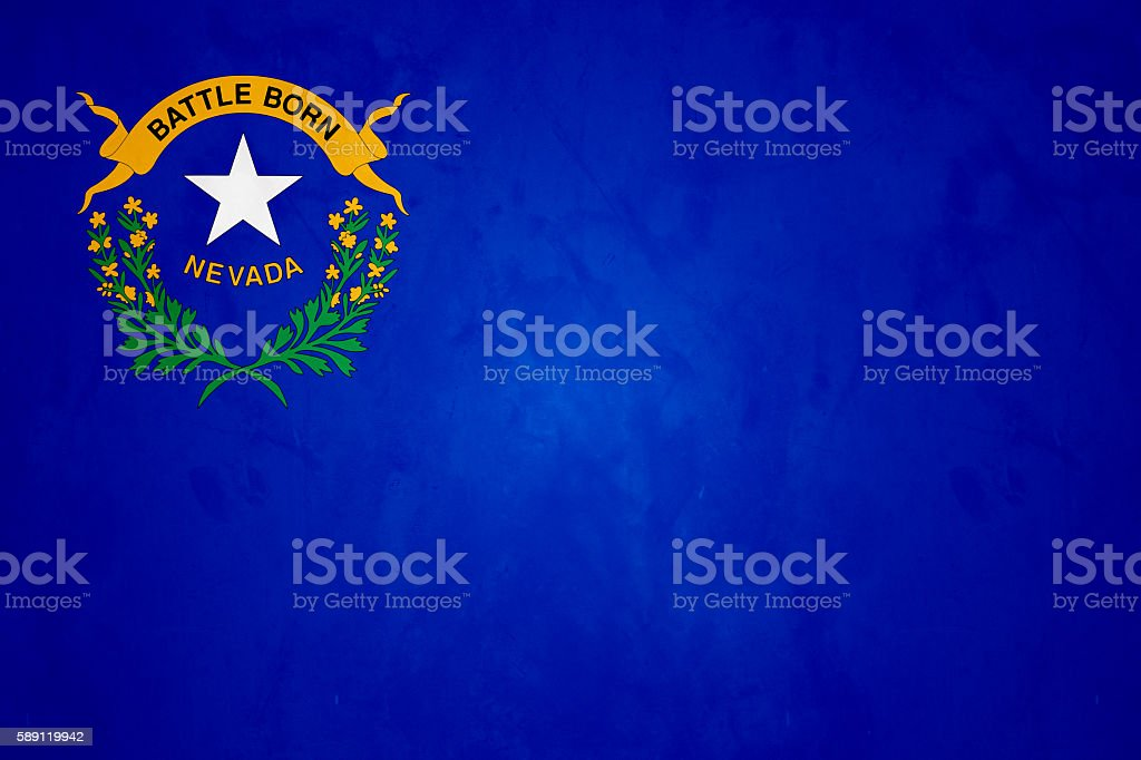 Flag Of Nevada (U.S. State) stock photo