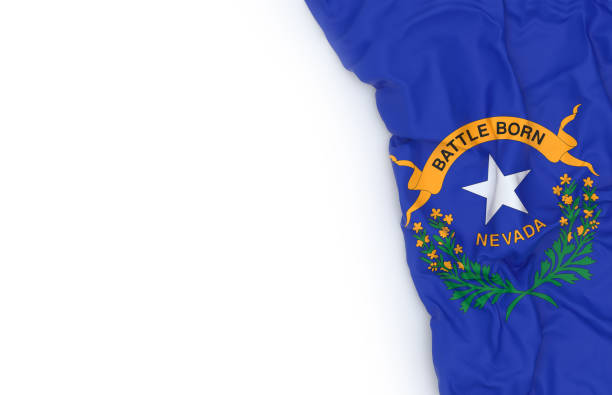 Flag of Nevada Nevada state flag on white board nevada stock pictures, royalty-free photos & images