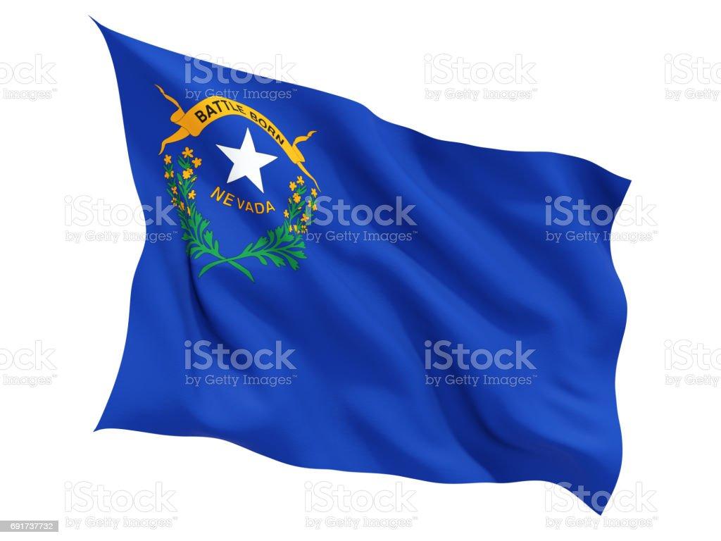 Bandeira do nevada, estado dos Estados Unidos tremulando bandeira - foto de acervo