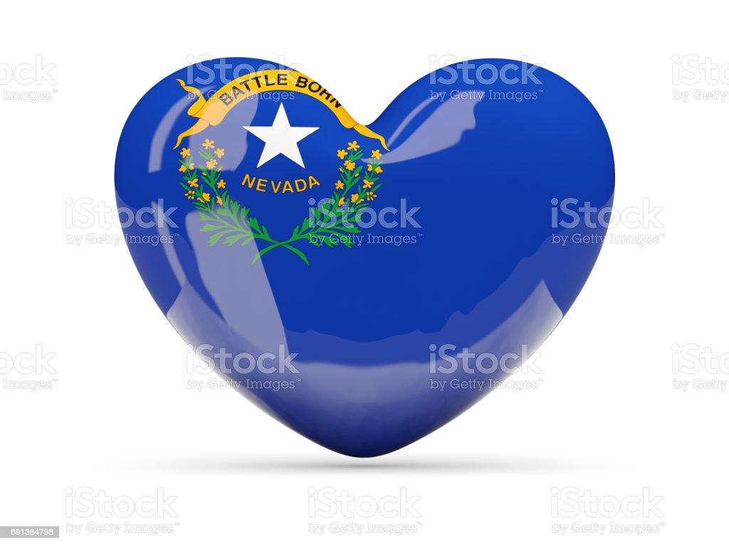 Bandeira do nevada, ícone de coração de estado dos EUA - foto de acervo