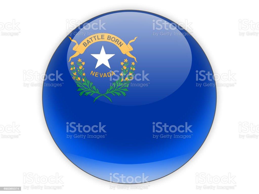 Flag of nevada, US state icon stock photo