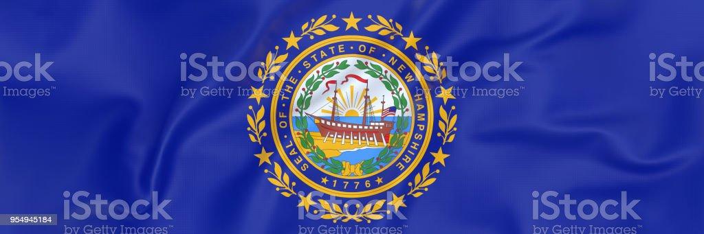 Bandeira de Nova Hampshire - foto de acervo