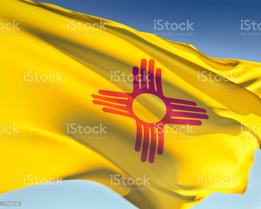 Flag of New Mexico royalty-free stock photo