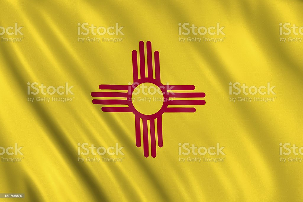 flag of new mexico royalty-free stock photo