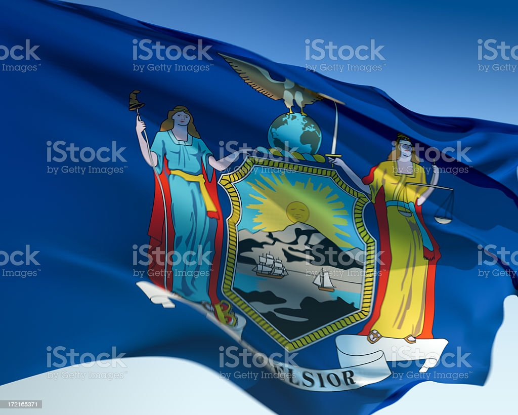 Flag of New York royalty-free stock photo