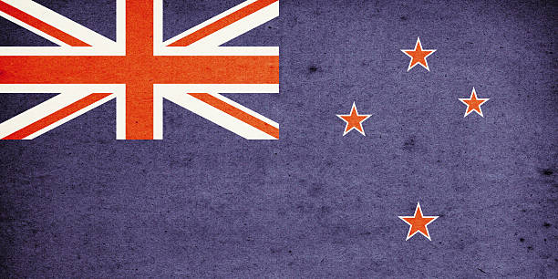 flag of new zealand close-up (high resolution image) - new zealand flag stock photos and pictures