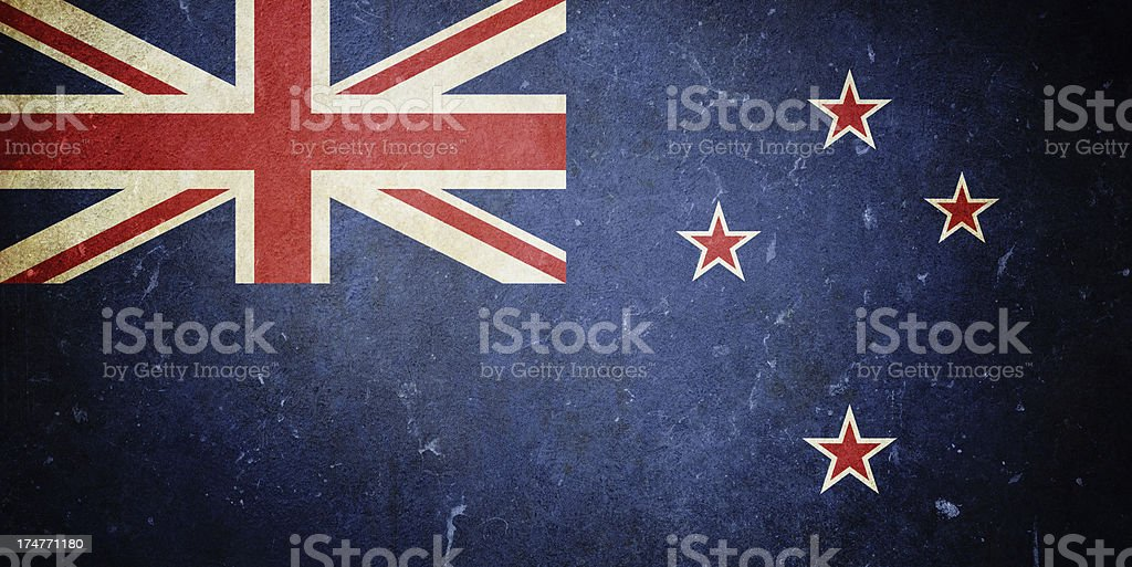 Flag of New Zealand royalty-free stock photo