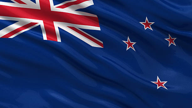 flag of new zealand - new zealand flag stock photos and pictures