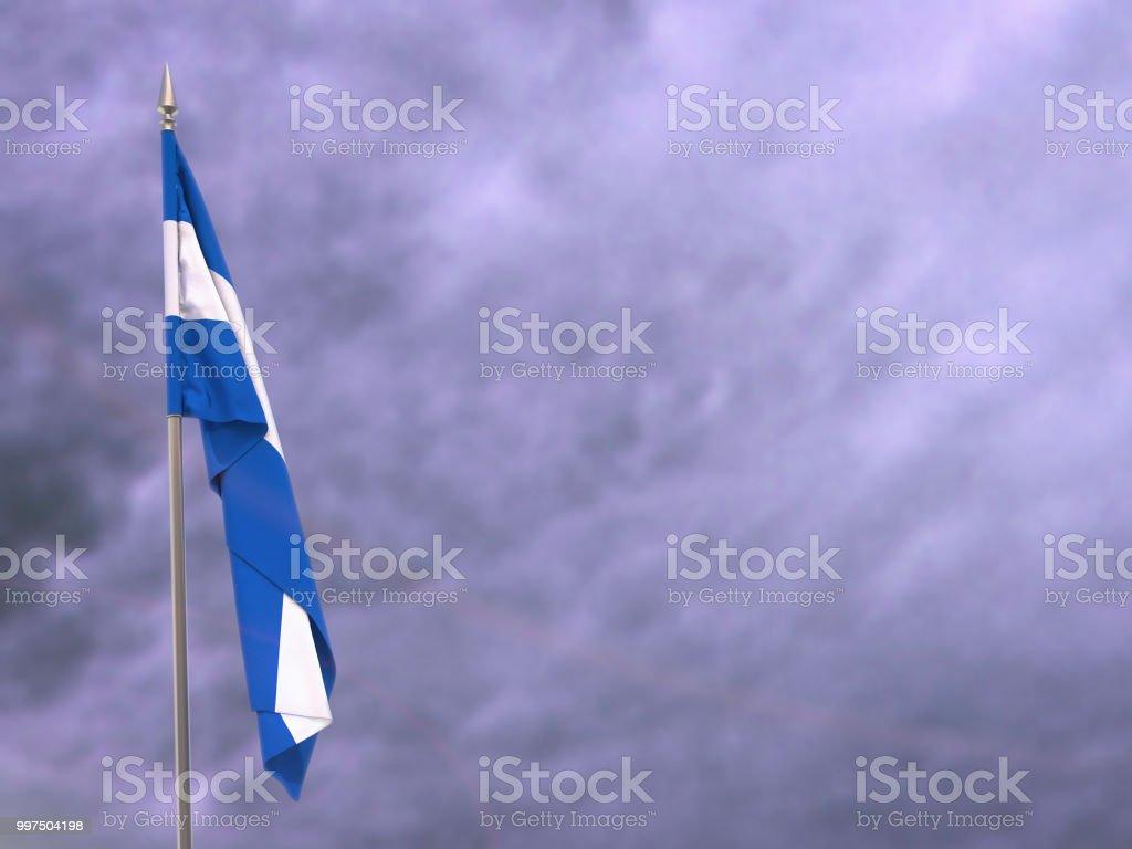 Bandera de Nicaragua colgando hacia abajo colgando - foto de stock