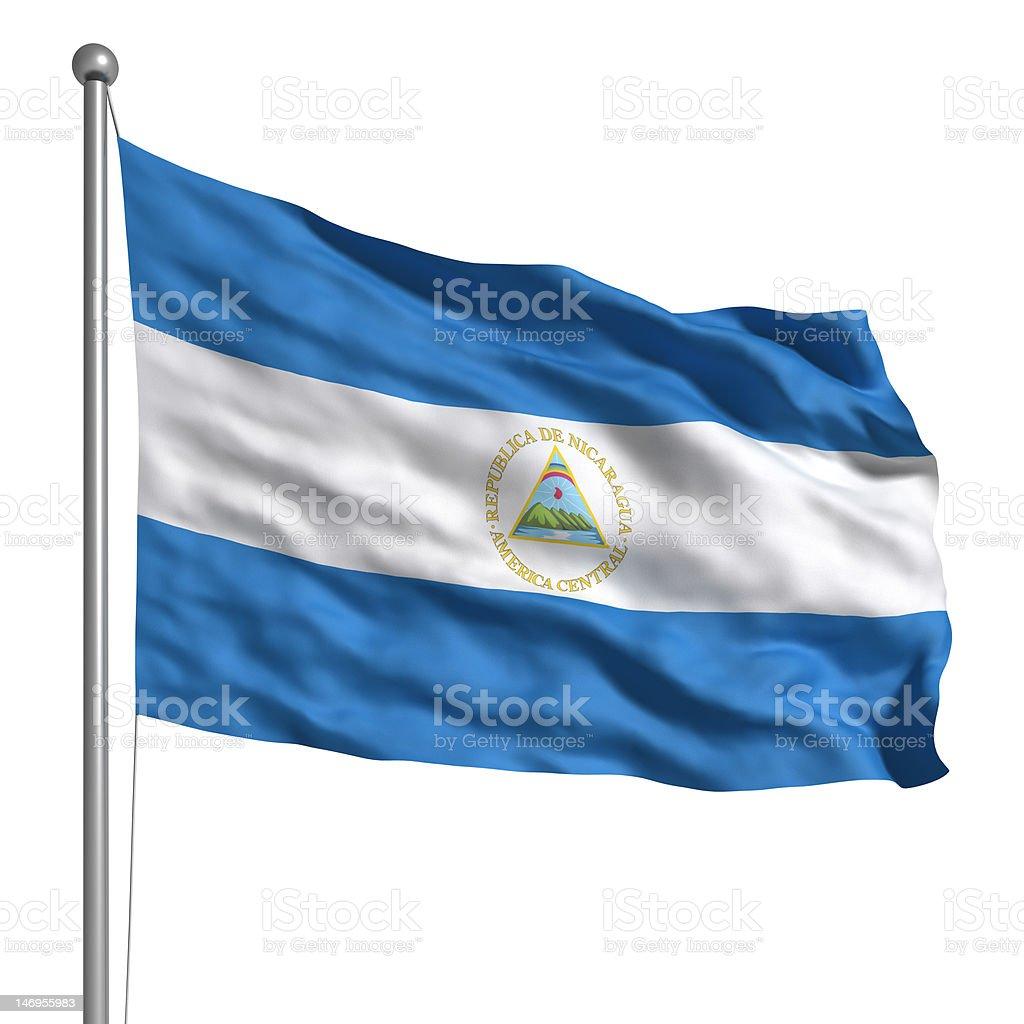 Bandera de Nicaragua (aislado - foto de stock