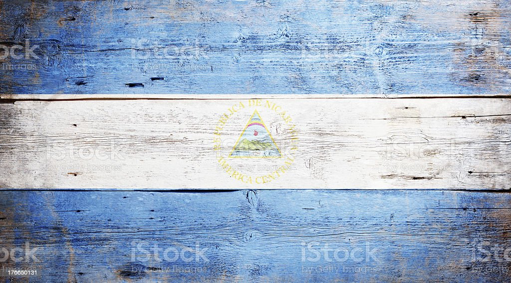 Flag of Nicaragua royalty-free stock photo