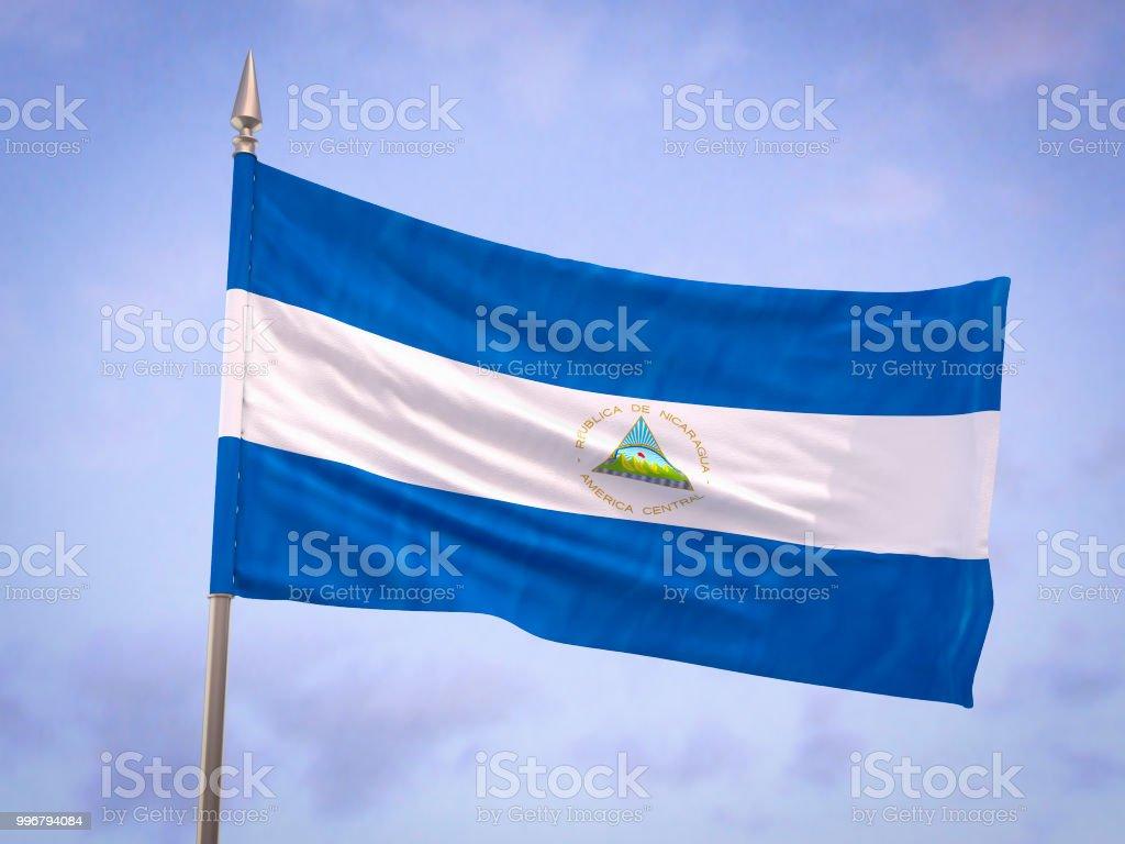 Bandera de Nicaragua - foto de stock