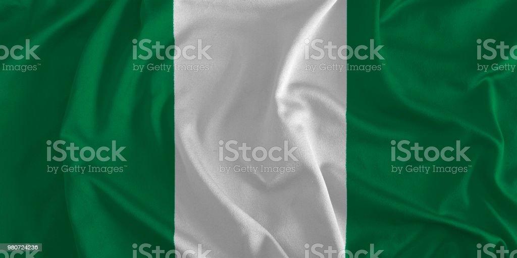 Bandera de Nigeria fondo - foto de stock
