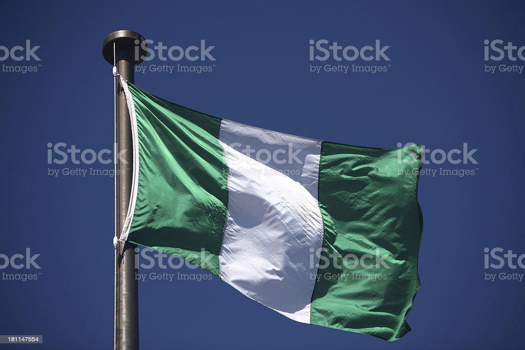Flag of Nigeria royalty-free stock photo